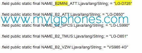 LG G3迷你AT&T显示出来,包装8MP相机