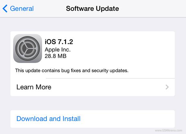 Apple发布iOS 7.1.2和OS x 10.9.4更新