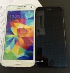 iPhone 6假人与iPhone 5S相比,Galaxy S5