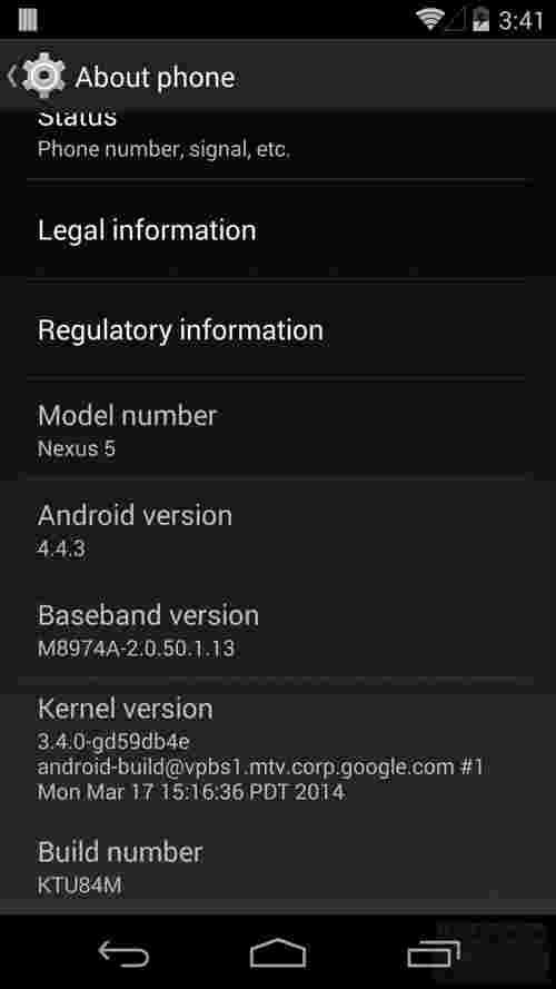 T-Mobile发布Android 4.4.3 Nexus 4,5和7的更新