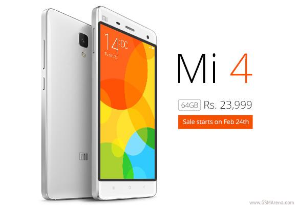 64GB小米MI 4将于2月24日开始在印度出售