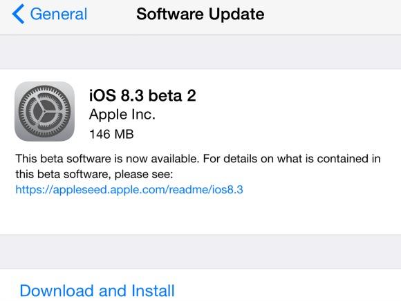 新的iOS 8.3 Beta Builds向测试人员和开发人员出发