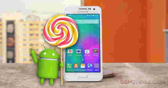 三星开始使用Android Lollipop更新Galaxy A3