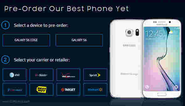 Galaxy S6和S6 Edge可能会在美国的S5预订时加倍