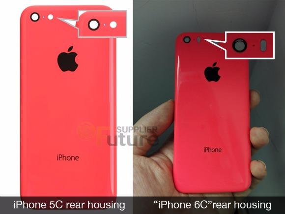 据报道,iPhone 6C后壳显示在泄露的图片中