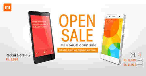 小米MI 4 64GB在印度的Flipkart开放式销售