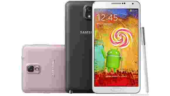 Samsung Galaxy Note 3 for at&T获取Android 5.0棒棒糖