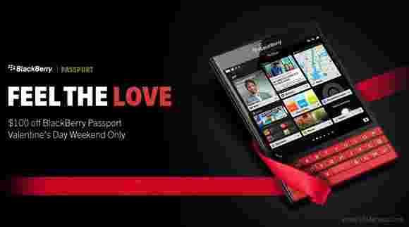 BlackBerry Passport获得了情人节的降价