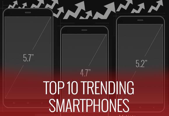 第10周的前10名趋势手机