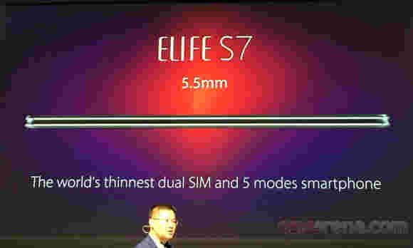 Gianee Elefife S7厚5.5毫米,跑得快速凉爽