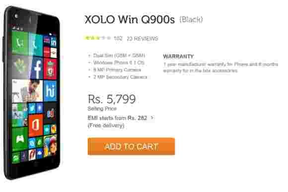 XOLO WIN Q900获得价格削减,现在可提供超过100美元