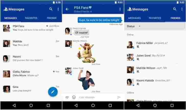 索尼释放用于PlayStation用户的Messenger应用程序