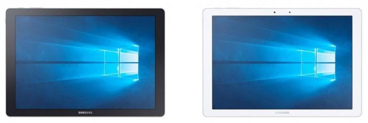 带键盘曲面的Windows Powered Samsung Galaxy Tabpro s