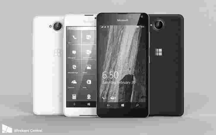新的渲染显示,描绘了即将到来的微软Lumia 650