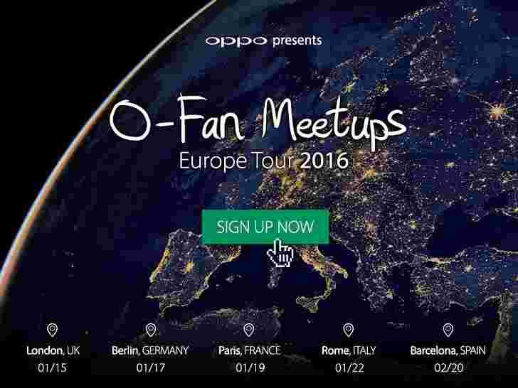 OPPO在欧洲O-FAN巡回赛中获取F1,现在免费使用免费门票