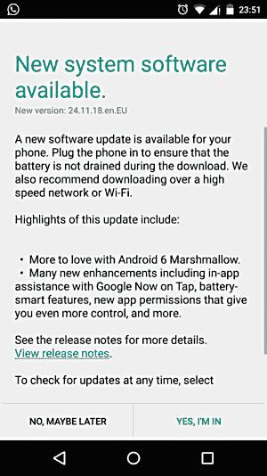 摩托罗拉开始将棉花糖更新播种给Moto X(2014)