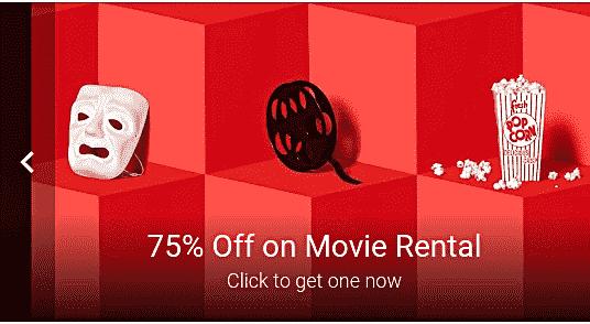 谷歌在播放商店电影租赁服务75%off