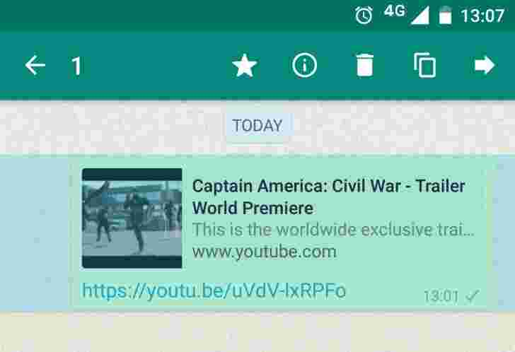 WhatsApp for Android获取出售消息,丰富的链接预览