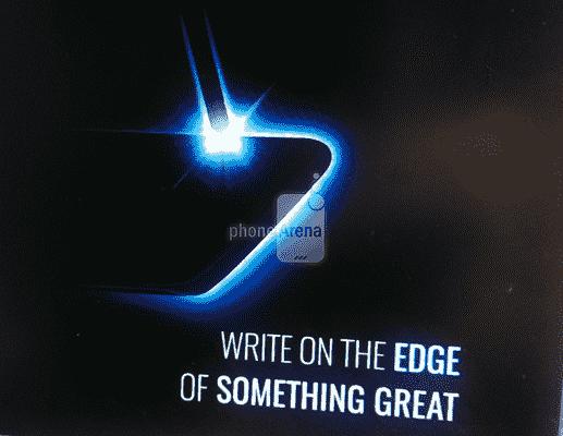 新的Galaxy Note7 Teaser重新确认曲线显示,揭示了写入它的能力