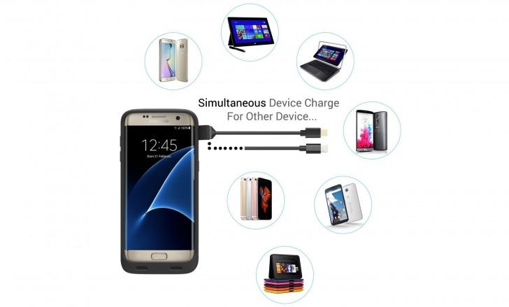 Galaxy S7 Edge的Zerolemon的8,500mAh电池盒是60美元