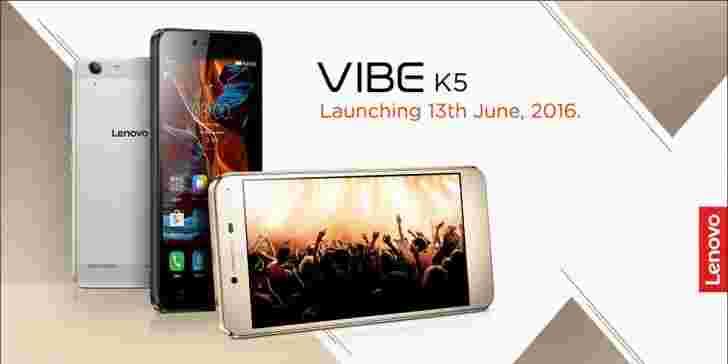 联想Vibe K5在6月13日在印度发射