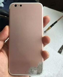 据称玫瑰金iphone 7后箱泄漏显示单个相机,新天线线